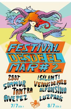 Poster by Desde el Mar Festival Created by Rockbot and Acopiodg #plata #del #el #desde #fest #indie #poster #music #mar #party