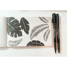. #white #handrawn #black #illustration #nature #and #leaves