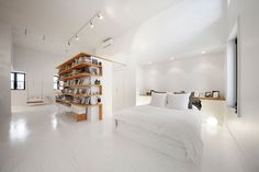 A Montreal Attic Converted Into An Artist's Studio | HUH. #white #studio #space