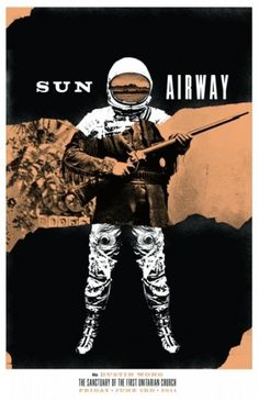 Look at this Killer Sun Airway Poster News :: Dead Oceans #gig poster #heads of state