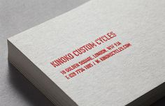 Kinoko Custom Cycles #business card #kinoko custom cycles