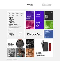 INSPIRE. on Behance #ux #inspire #design #interface #ui #web