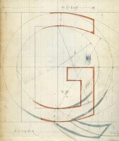 Eric Gill - Gill Sans sketches