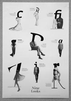 Dario Dević & Hrvoje Živčić – Nine Looks | typetoken® #poster #typography