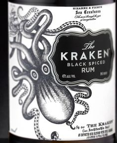 Stranger Kraken #package #rum #label #kraken