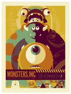Tumblr #illustration #poster #mosters inc #tom whalen