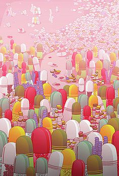 Society of Pills by Noel DelMar #pills #society #illustration #apparel #shop #online