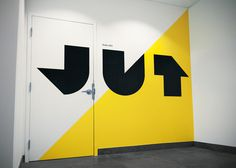 Jut #sign #graphic #vinyl #wall #signage