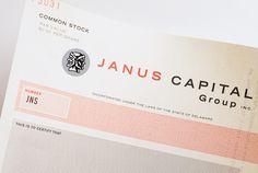 janus capital identity #stock #certificate #logo
