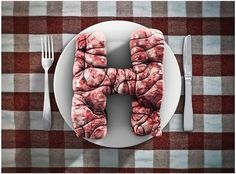 Life is good x H on the Behance Network #blood #vein #meat #real #object #type #helvetica #typography