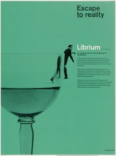 MoMA | The Collection | Rolf Harder. Librium advertisement (Escape to reality). 1964