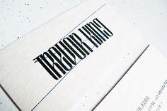 camdiamond #letterpress #typography
