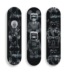 BLACK ROLLING TOYS by Nicolas Obery - available @ artandtoys.com #toys #skate #art