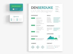 Free Resume Template with Business Card