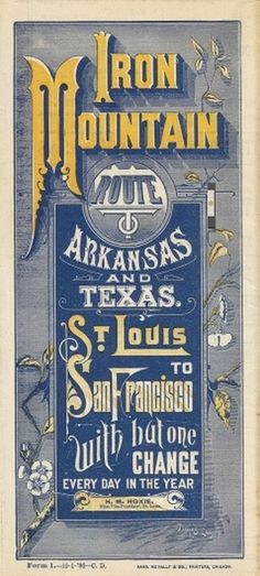 iron_mountain_rail.jpg (1086×2400) #railroad #advertisement #type #antique #typography