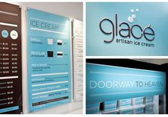Glacé Artisan Ice Cream | Identity Designed #idea #branding