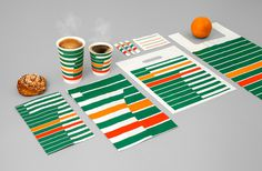 BVD – 7-Eleven #pattern #branding #stripes #eleven #coffee #cup
