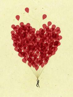 Magical balloons | Curvy #vector #red #balloons #magical #curvy