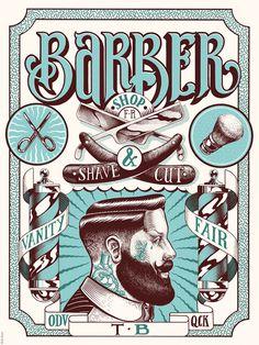 Ilustracixc3xb3n: Hello Shane #draw #barbershop #poster