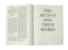 The Artists And Their Works