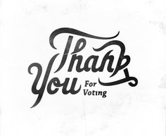 Thank you type