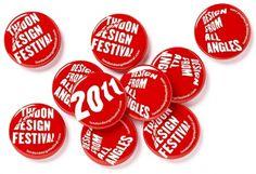 Pentagram #badges #design #red #typography