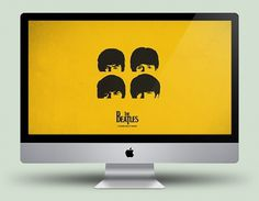 a hard day's night by ~xanthousis #beatles #vector #desktop #famous #celeb #yellow #the #minimal #art #music #fanart