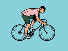 Ride On. rider bicycle cycling bike illustration