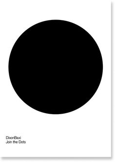 DixonBaxi - Join the Dots 1 - 50 #black #dot #poster