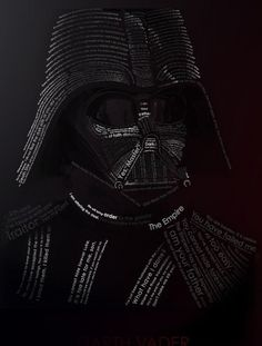 VADER typography by ~etrav689 #wars #star #typography
