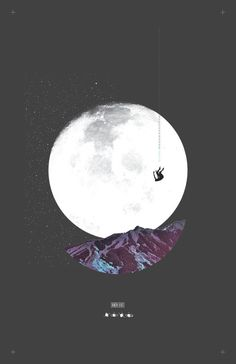 Free Fall Through The Fabric of The Cosmos. #poster #cosmos #moon #freefall #typography #layout #design #poster #collage #stars #darkness #t