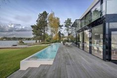 Massive Contemporary Residence Taking in Perfect Lake Views #architecture #contemporary