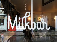 FFFFOUND! | milkbar.jpg (image) #graphic design #typography #identity #photography #milkbar
