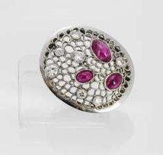 Rubin-Diamant-Brosche