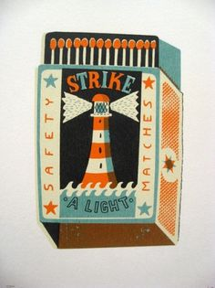 Google Reader (964) #matchbox #illustration #lighthouse #matchbook