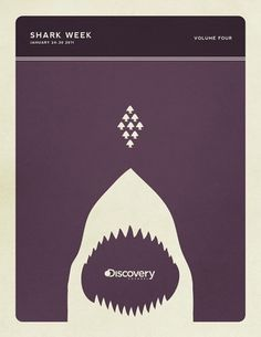 Shark Week #flat #vector #shark #monochrome #poster