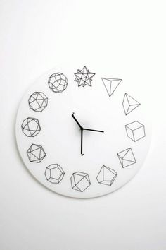 Solid Ho Clock | #design #shape #clock #geometry