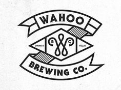 Dribbble - Wahoo Brew. Co. 03 by Pavlov Visuals #beer #white #one #drink #color #black #pavlov #wahoo #brewing #yell #and #visuals