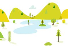GrowEnergy.org events branding & illustration on Behance #tree