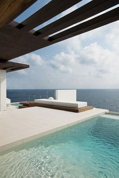 Ibiza Beach Villa with Sea View and Pool #ocean #white #pool #architecture #villa