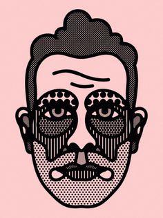 Craig Redman » Portraits #vector #illustration #redman #face #character #craig