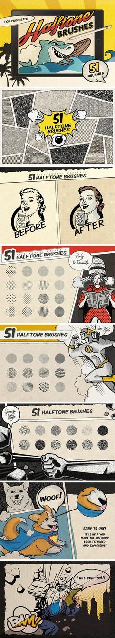 Retro Comics Procreate Brushes Free by Pixelbuddha