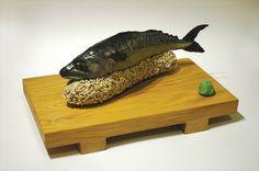 Fresh Sushi - timothy cheng #sculpture #fish #sushi #illustration #handmade #timothy #fake #cheng