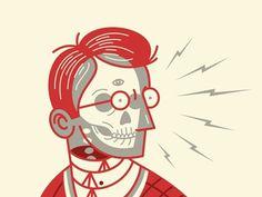 Ghostmachine, Dan Christofferson #illustration #skull