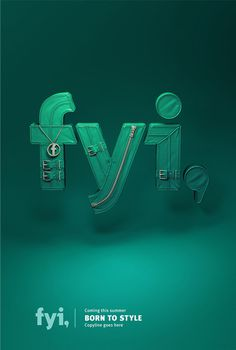 FYI network on Behance #lettering #3d