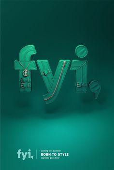 FYI network on Behance #lettering #3d