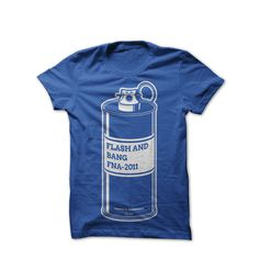 Image of Flash and Bang #f&a #tshirt #paint #grenade #blue #spray