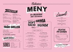 Art of the Menu: Calexico's #menu #branding