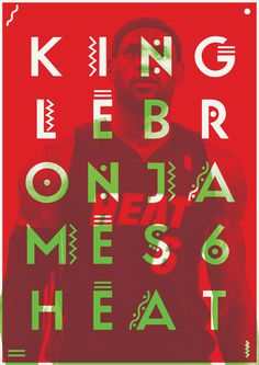 King LeBron by Abbas Mushtaq #graphic design #poster #experimental #overlay #lebron james #basketball #sports #nba