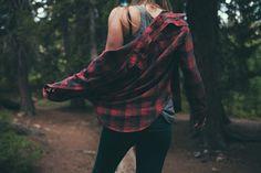 Source: loserpirate http://inspire.neuetoyou.com/ #photo #woods #color #plaid #nature
